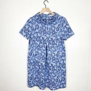 Tyler Boe Floral Cowl Neck Sheath Dress Medium